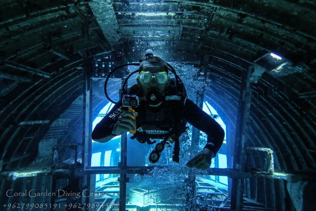 Hercules C130 from inside, diving in aqaba red sea