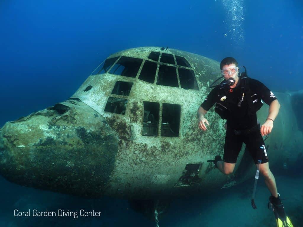 Diving at Hercules C 130