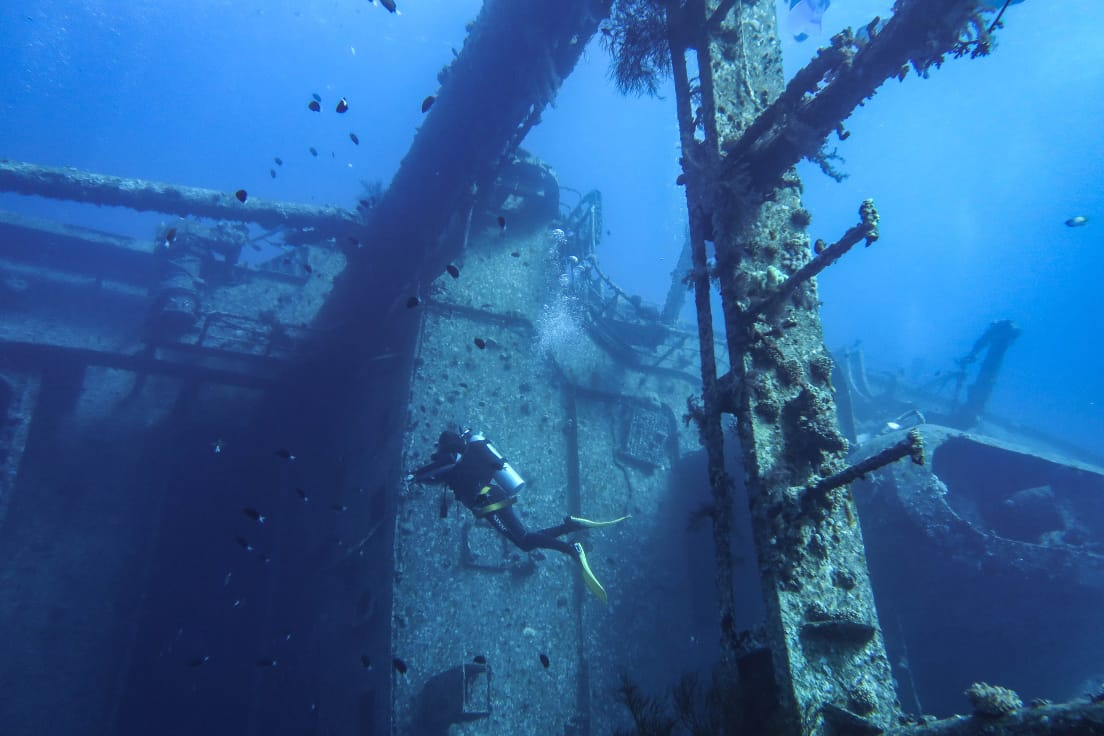 Cedar Pride shipwreck dive site aqaba red sea, diving Aqaba