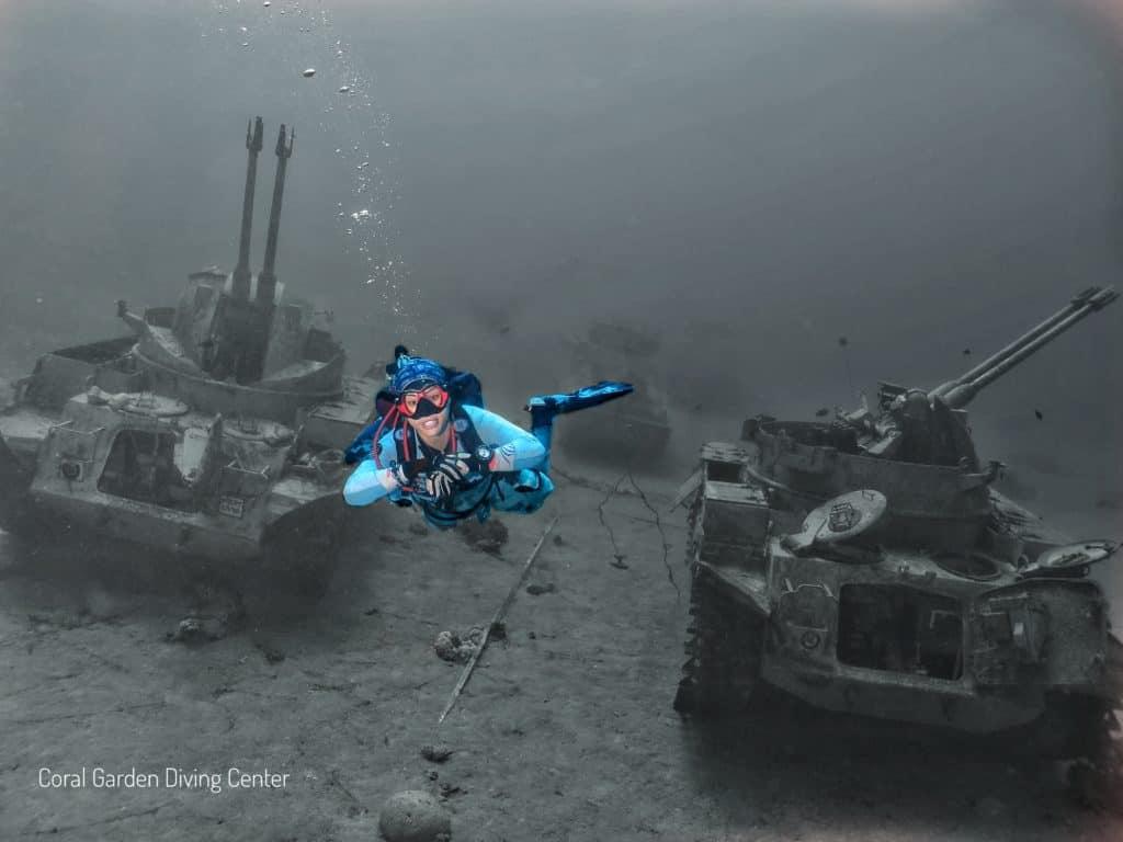 underwater military museum tank aqaba jordan