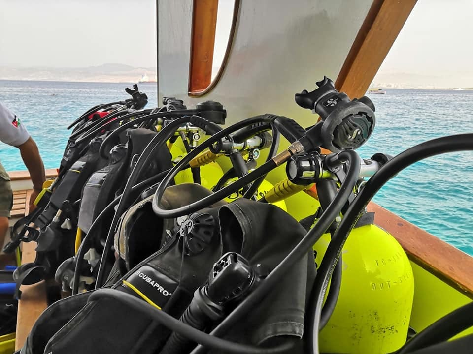 scuba kit is ready for diving
